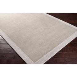 angelo:HOME Loomed Gray Madison Square Contemporary Wool Rug (5' x 7'6