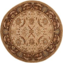 Hand-tufted Multicolored Clift New Zealand Wool Rug (8' Round)