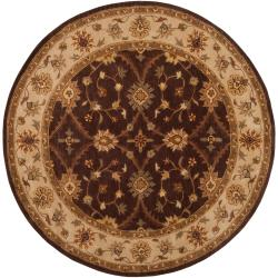 Hand-Tufted Transitional Multicolored Clift New Zealand Wool Rug (8' Round)