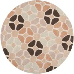 Hand-tufted Contemporary Geometric Cosmic Abstract Rug (8' Round)