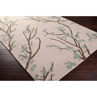angelo:HOME Hand-tufted Green Hudson Park Polyester Rug (5' x 7'6)