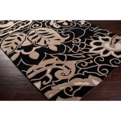 angelo:HOME Hand-tufted Black Hudson Park Polyester Rug  (5' x 7'6)