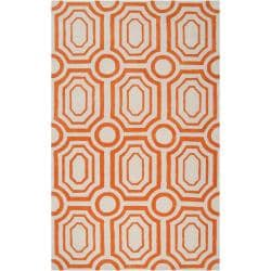 angelo:HOME Hand-tufted Orange Hudson Park Polyester Rug (2' x 3')