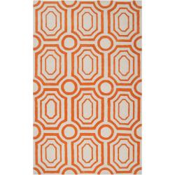 angelo:HOME Hand-tufted Orange Hudson Park Polyester Rug (3'3 x 5'3)