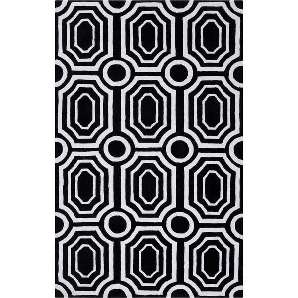 angelo:HOME Hand-tufted Black Hudson Park Polyester Rug (2' x 3')