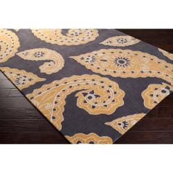 angelo:HOME Hand-tufted Yellow Hudson Park Polyester Rug (3'3 x 5'3)