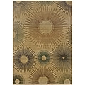 Sydney Beige/ Rust Contemporary Area Rug (4' x 5'9)