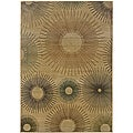Sydney Beige/ Rust Contemporary Area Rug (7'10 x 11')
