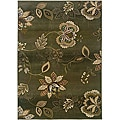 Sydney Green/ Brown Transitional Area Rug (4' x 5'9)