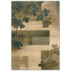 Sydney Beige/ Green Transitional Area Rug (4' x 5'9)