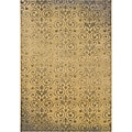 Beige/ Grey Transitional Area Rug (1'10 x 3'3)