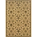 Beige/Grey Polypropylene Area Rug (1'10 x 3'3)