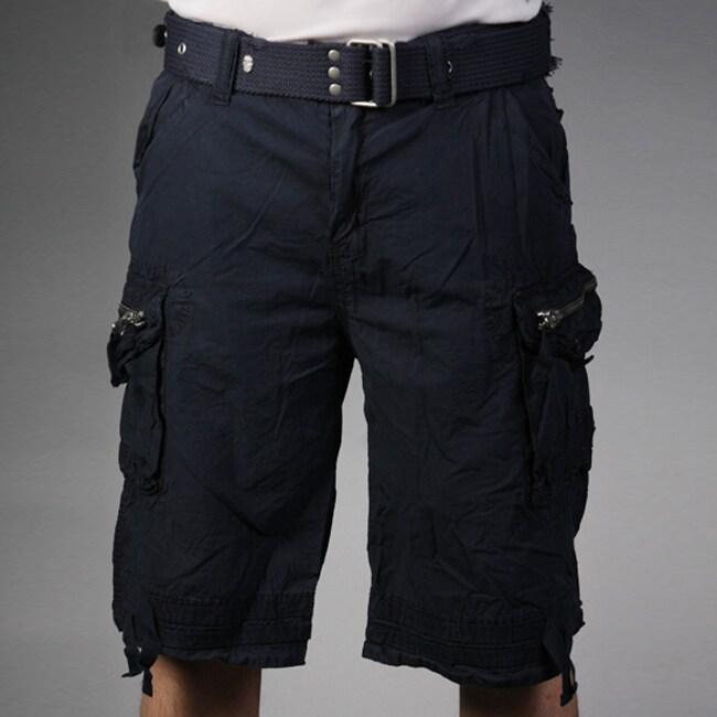Laguna Beach Jean Company Men's Hermosa Beach Navy Belted Cargo Shorts