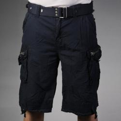 Laguna Beach Jean Company Men's Hermosa Beach Navy Belted Cargo Shorts