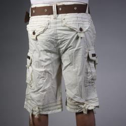 Laguna Beach Jean Company Men's Hermosa Beach Beige Belted Cargo Shorts