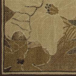 Somette Avante Blossoming Elegance Beige Rug (4' x 6')