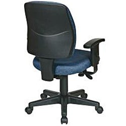 Office Star Deluxe Task Chair with Ratchet Back Height Adjustment and 2-way Adjustable Arms