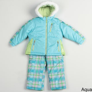 London Fog Girl's Plaid Snowsuit