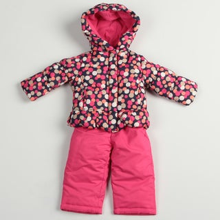 Osh Kosh Toddler Girl's Pink Polka-dot Snowsuit
