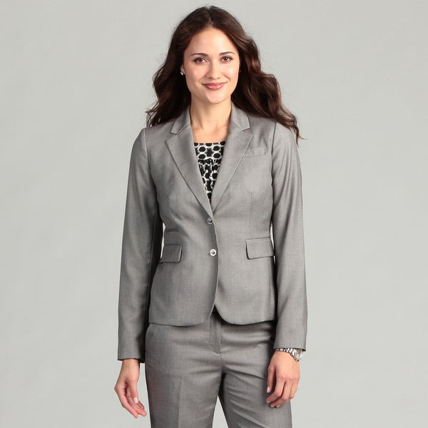 Calvin Klein Women's Silver Two-button Jacket