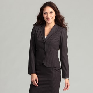 Calvin Klein Women's Black Pinstriped Jacket