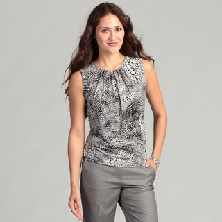 Calvin Klein Women's Blue Animal Inspired Tank