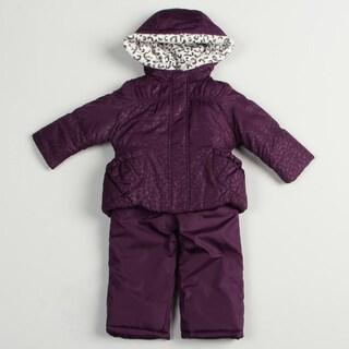 London Fog Toddler Girl's Purple Snowsuit