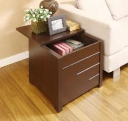 Max Modern Dark Espresso Hidden Storage End Table