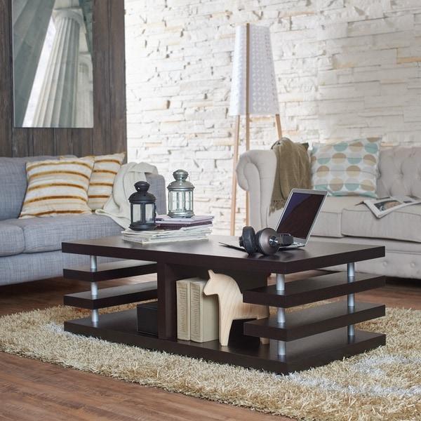 Barkley Console Table: Furniture Of America Architectural Inspired Dark Espresso