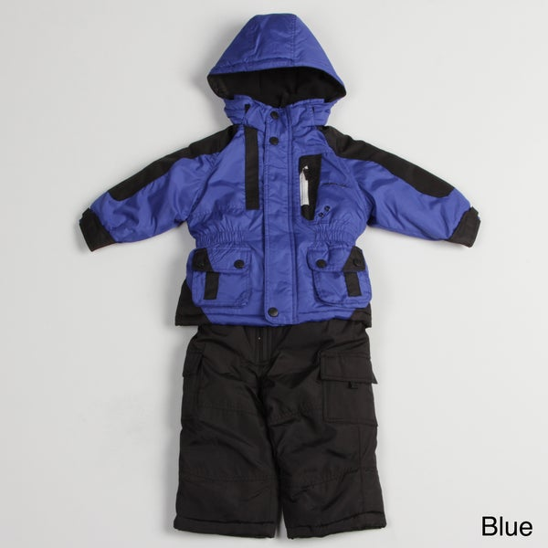 London Fog Toddler Boy's Colorblock Snow Suit