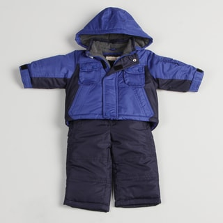 Osh Kosh Infant Boys' Color Blocked Blue Snow Suit