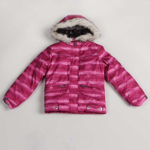 London Fog Girl's Pink Striped Jacket