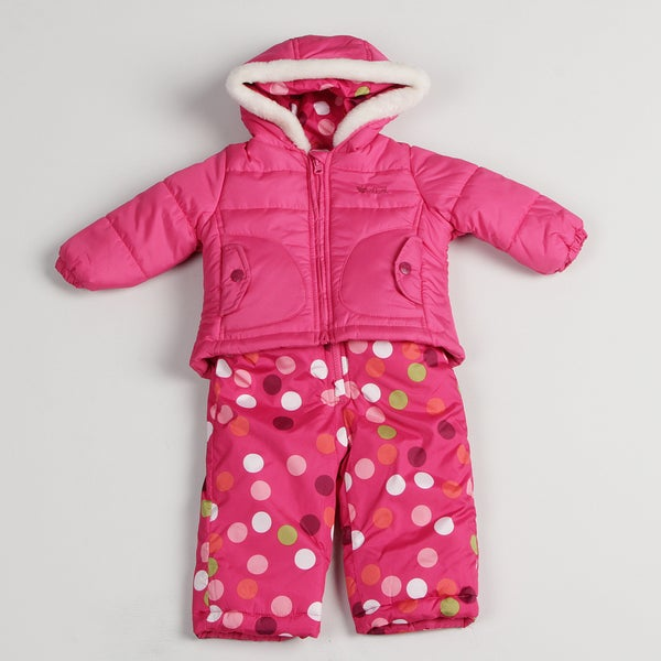 Osh Kosh Infant Girls' Polka Dot Snowsuit