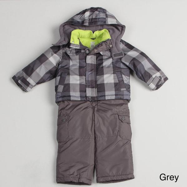 Carters Boy's Plaid Snowsuit