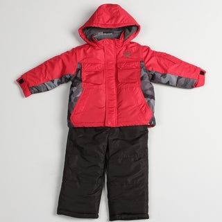 Osh Kosh Boy's Red Parka Snowsuit