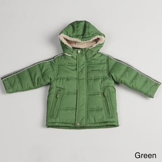London Fog Boy's Solid Bubble Coat