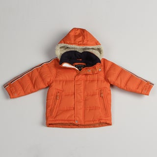 London Fog Boy's Bubble Orange Jacket