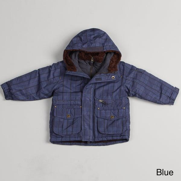 London Fog Boys' Faux Fur lined Jacket