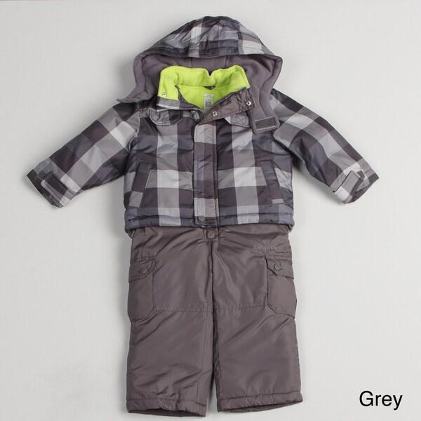 Carters Toddler Boy's Plaid Snowsuit