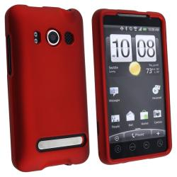 BasAcc Red Snap-on Rubber Coated Case for HTC EVO 4G