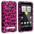 BasAcc Pink Leopard Snap-on Rubber Coated Case for HTC EVO 4G