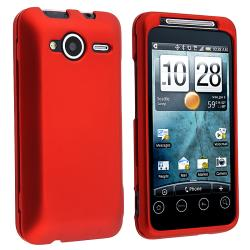 BasAcc Red Snap-on Rubber Coated Case for HTC EVO Shift 4G