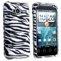 BasAcc White/ Black Zebra Snap-on Case for HTC EVO Shift 4