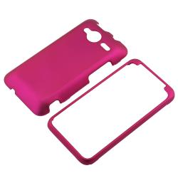BasAcc Hot Pink Snap-on Rubber Coated Case for HTC EVO Shift 4G