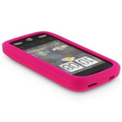 INSTEN Hot Pink Soft Silicone Skin Phone Case Cover for HTC Droid Eris