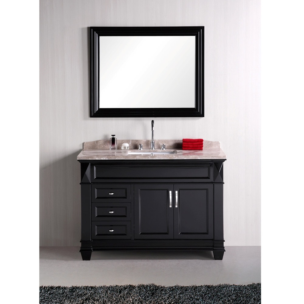 Design Element Hudson 48-inch Single Sink Marble Top Bathroom Vanity Set at Sears.com