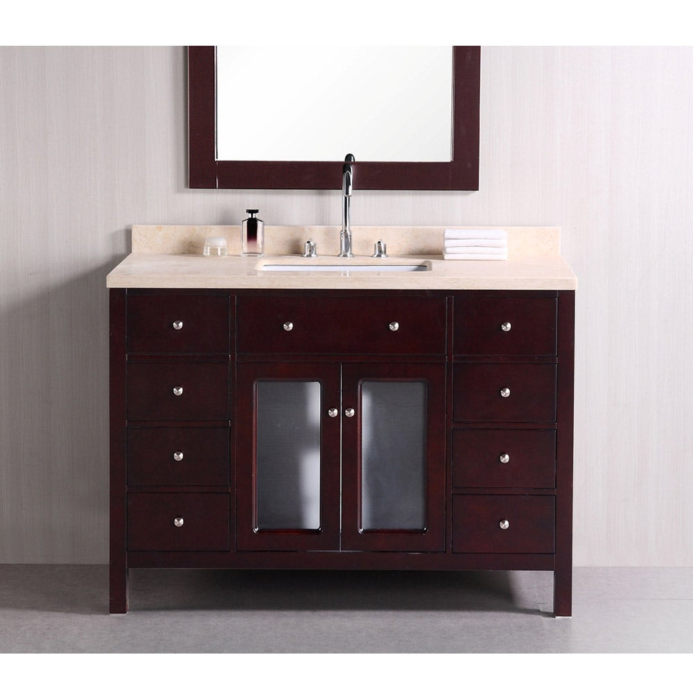 Vanity Single Sink : Design Element Venetian 48-inch Single Sink Bathroom Vanity - 14263820 ...
