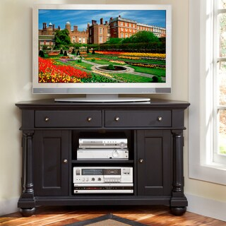 St. Croix Black Corner TV Stand
