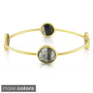 Miadora 22k Gold-plated Silver 16ct TGW Gemstone Bracelet (7-inch)