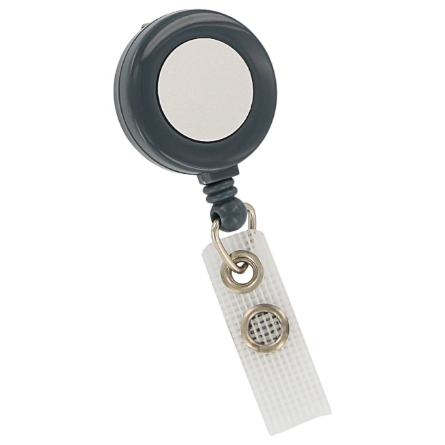 GBC BadgeMates Grey Retractable Badge Reels (Pack of 10)